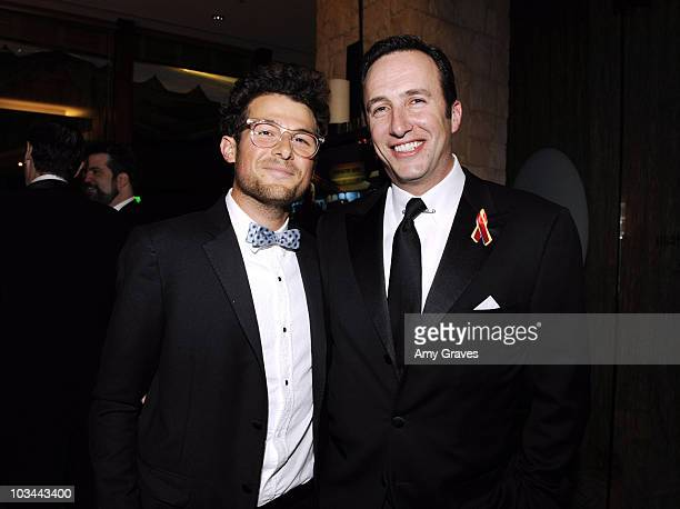 OnAir AMC News Correspondent Jacob Soboroff and President of AMC Charlie Collier attend the AMC Golden Globes viewing party at The Beverly Hilton...