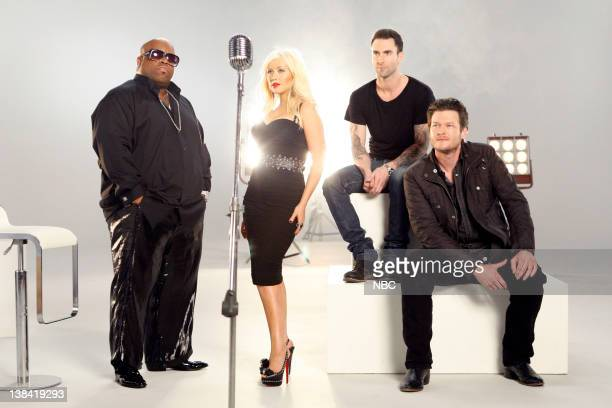 On-Air Promo -- Pictured: Cee Lo Green, Christina Aguilera, Adam Levine, Blake Shelton