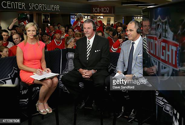 NHL onair talent Kathryn Tappen Barry Melrose and Billy Jaffe discuss Game Six of the 2015 NHL Stanley Cup Final between the Tampa Bay Lightning and...