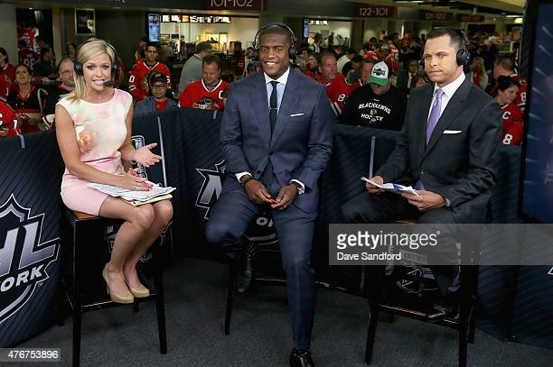 NHL onair talent Kathryn Tappen Kevin Weekes and Martin Biron discuss Game Three of the 2015 NHL Stanley Cup Final between the Tampa Bay Lightning...