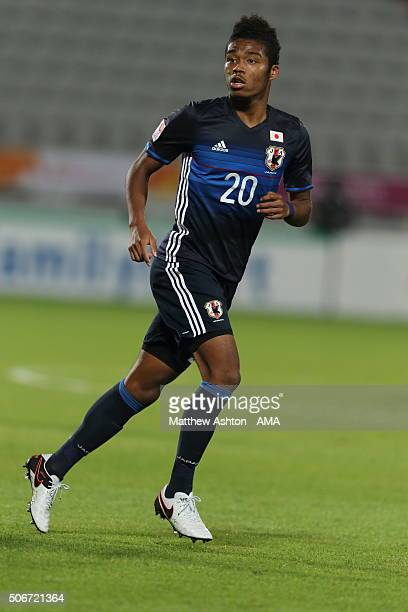 Onaiwu Ado of Japan during the AFC U23 Championship quarter final match between Japan and Iran at the Abdullah Bin Khalifa Stadium on January 22 2016...