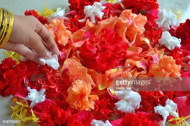 Onam-floral carpet-harvest festival-Kerala