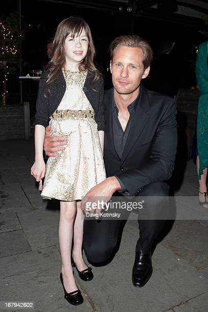 Onata Aprile and Alexander Skarsgard attend a screening hosted by The Cinema Society With Tod's GQ of Millennium Entertainment's What Maisie Knew...