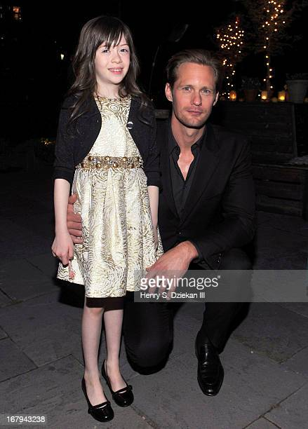 Onata Aprile and Alexander Skarsgard attend The Cinema Society With Tod's GQ screening of Millennium Entertainment's What Maisie Knew after party at...