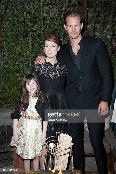 Onata Aprile Julianne Moore and Alexander Skarsgard attend a screening hosted by The Cinema Society With Tod's GQ of Millennium Entertainment's What...