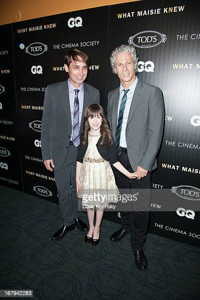Onata Aprile Scott McGehee David Siegel attends a screening hosted by The Cinema Society With Tod's GQ of Millennium Entertainment's What Maisie Knew...