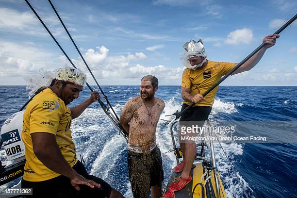 Onboard Abu Dhabi Ocean Racing OBR Matt Knighton crossed the Equator for the first time and pays tribute to King Neptune as all Pollywogs should do...