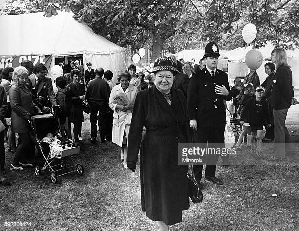 Once in every Preston Guild is a catchphrase used by Ena Sharples seen here walking across the showground to join the other members of the cast...