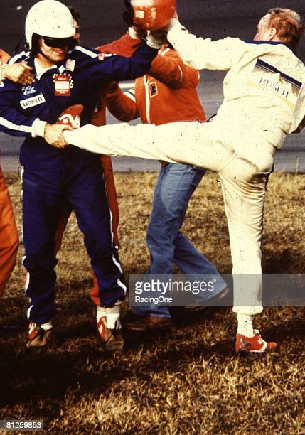Once the beating and banging between Donnie Allison and Cale Yarborough subsided a brawl broke out between turns 34 among the two and Bobby Allison...