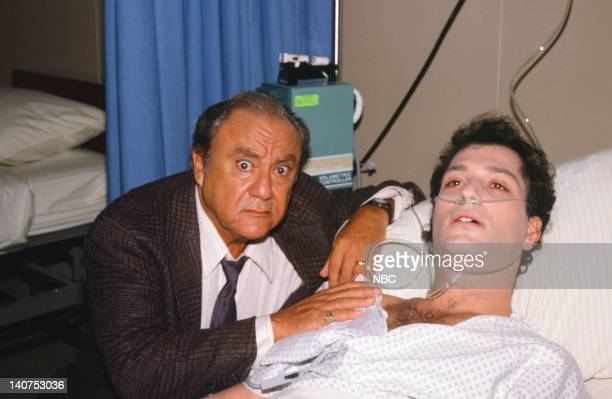 ST ELSEWHERE Once Upon a Mattress Episode 10 Pictured Bill Dana as Mr Fiscus Howie Mandel as Dr Wayne Fiscus Photo by NBCU Photo Bank