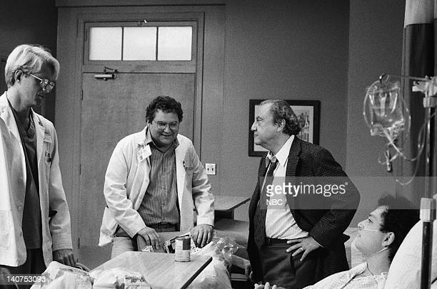ST ELSEWHERE Once Upon a Mattress Episode 10 Pictured Ed Begley Jr as Dr Victor Ehrlich Stephen Furst as Dr Elliot Axelrod Bill Dana as Mr Fiscus...