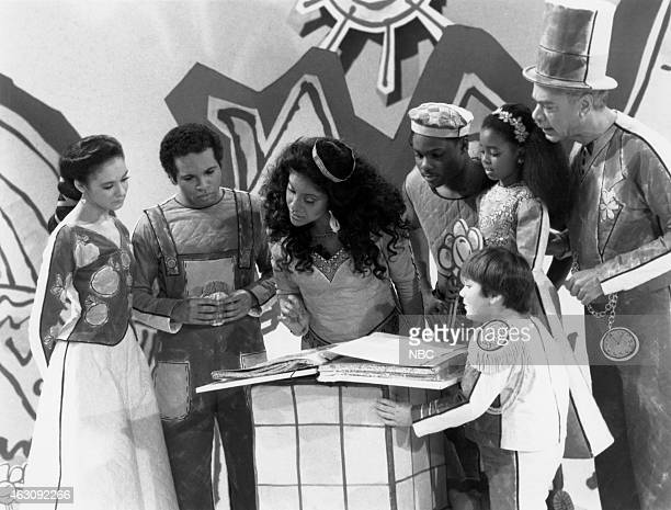 "Once Upon A Time"" Episode 18 -- Pictured: Sabrina Le Beauf as Sondra Huxtable Tibideaux, Geoffrey Owens as Elvin Tibideaux, Phylicia Rashad as Clair..."