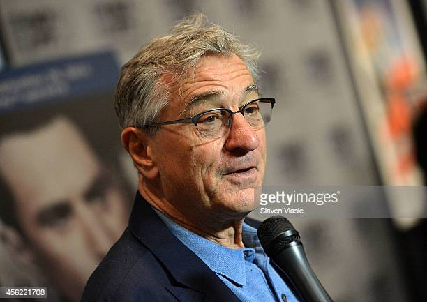 'Once Upon A Time In America' cast member Robert De Niro attends the 52nd New York Film Festival at Walter Reade Theater on September 27 2014 in New...