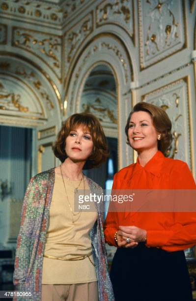 """Once Upon a Time... Is Now the Story of Princess Grace"""" -- Pictured: Host Lee Grant, Princess Grace Kelly of Monaco in the Mirror Gallery of the..."""