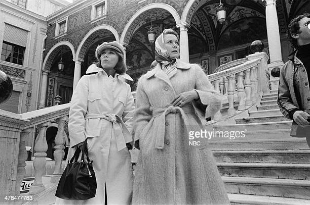 """Once Upon a Time... Is Now the Story of Princess Grace"""" -- Pictured: Host Lee Grant, Princess Grace Kelly of Monaco in the Main Courtyard of the..."""