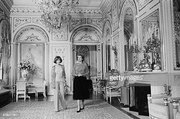 EVENT Once Upon a Time Is Now the Story of Princess Grace Pictured Host Lee Grant Princess Grace Kelly of Monaco in the Mirror Gallery of the...