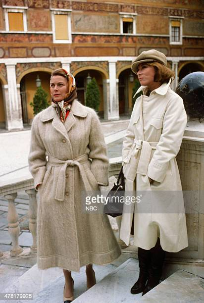 """Once Upon a Time... Is Now the Story of Princess Grace"""" -- Pictured: Princess Grace Kelly of Monaco, host Lee Grant in the Main Courtyard of the..."""