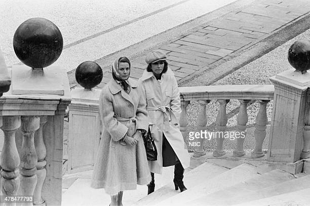 EVENT Once Upon a Time Is Now the Story of Princess Grace Pictured Princess Grace Kelly of Monaco host Lee Grant in the Main Courtyard of the...