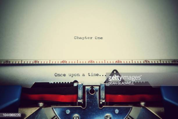 once upon a time... - authors stockfoto's en -beelden