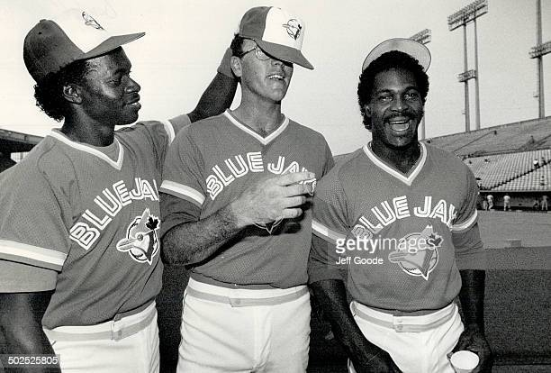Once upon a time the entire Blue Jays payroll was $850000 Yesterday three Jays stars from left Tony Fernandez Tom Henke and George Bell were raising...