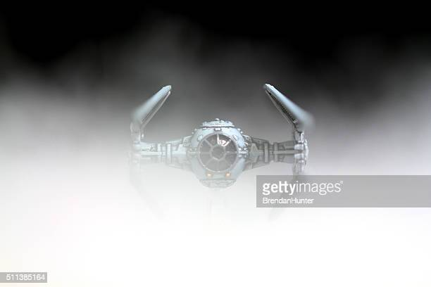 oncoming interceptor - star wars stock pictures, royalty-free photos & images