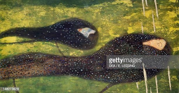 Ondine ca 1899 by Gustav Klimt oil on canvas 82x52 cm Vienna Zentralsparkasse Der Gemeinde Wien