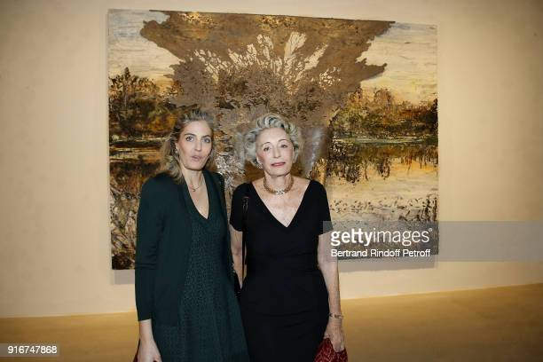 Ondine de Rothschild and Ariane Dandois attend the 'Fur Andrea Emo' Anselm Kiefer's Exhibition at Thaddeus Ropac Gallery on February 10 2018 in Paris...
