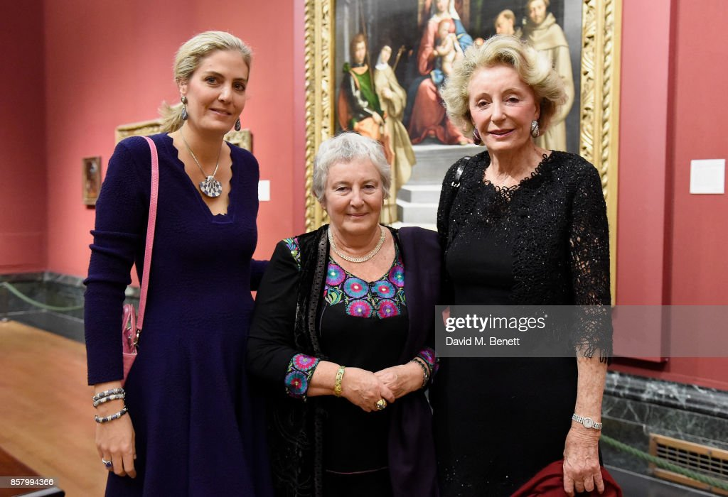 Ondine de Rothschild, Emilia Kabakov and Madame Ariane Dandois attends 'Unexpected View' co-hosted by the National Gallery and Galerie Thaddaeus Ropac on the occasion of Frieze 2017 at The National Gallery on October 5, 2017 in London, England.