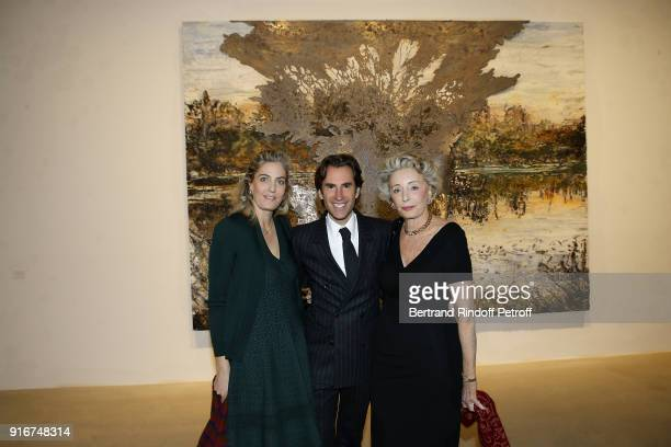 Ondine de Rothschild Pierre Pelegry and Ariane Dandois attend the 'Fur Andrea Emo' Anselm Kiefer's Exhibition at Thaddeus Ropac Gallery on February...