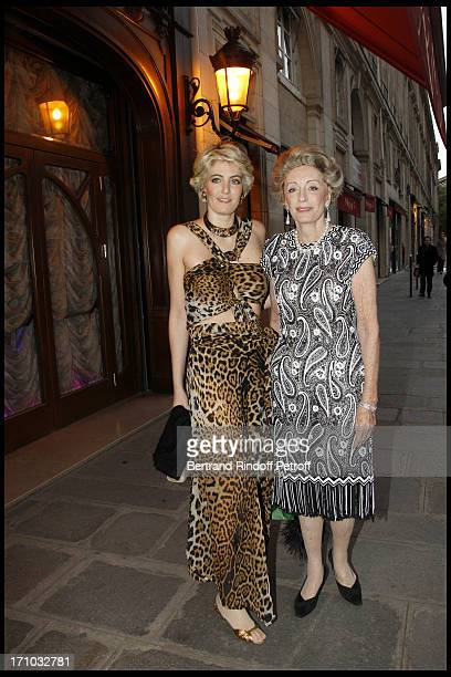 Ondine of Rothschild and her mother Ariane Dandois at Gloria Von Thurn Und Taxis And Thaddaeus Ropac's Anniversary At Maxim'S In Paris