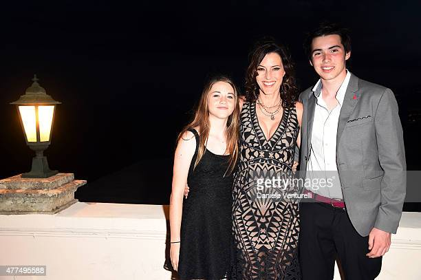 Ondine PeckVoll Cecilia Peck and Harper Peck attend Day 5 of the 61st Taormina Film Fest on June 17 2015 in Taormina Italy