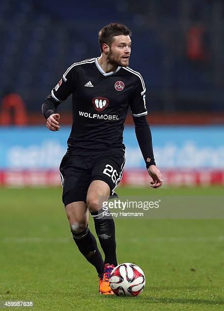 Ondrej Celustka of Nuernberg runs with the ball during the 2 Bundesliga match between Eintracht Braunschweig and 1 FC Nuernberg at Eintracht Stadion...
