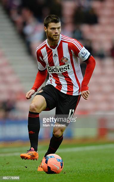 Ondrej Celustka of Sunderland in action during the FA Cup Third Round match between Sunderland and Carlisle United at the Stadium of Light on January...