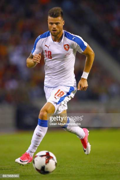 Ondrej Celustka of the Czech Republic in action during the International Friendly match between Belgium and Czech Republic at Stade Roi Baudouis on...