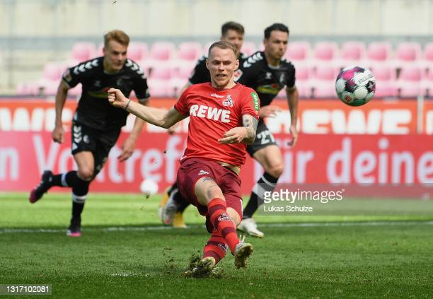 Ondrej Duda of 1. FC Koeln misses from the penalty spot during the Bundesliga match between 1. FC Koeln and Sport-Club Freiburg at...