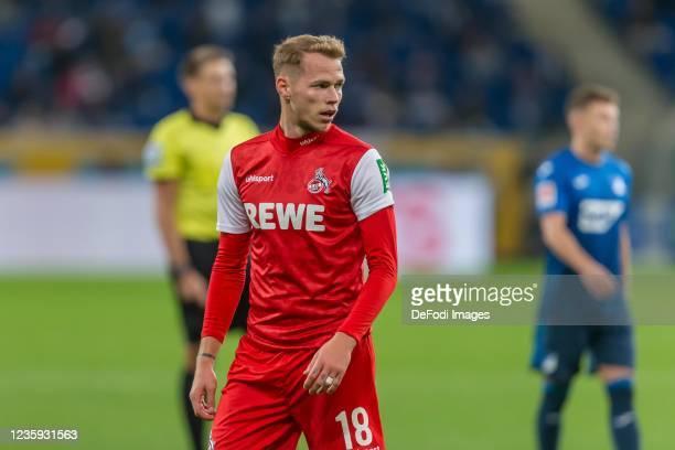 Ondrej Duda of 1.FC Koeln Looks on during the Bundesliga match between TSG Hoffenheim and 1. FC Köln at PreZero-Arena on October 15, 2021 in...