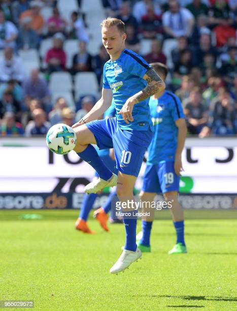 Ondrej Duda of Hertha BSC before the Bundesliga game between Hannover 96 and Hertha BSC at HDI Arena on May 5 2018 in Hannover Germany