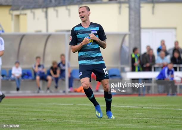 Ondrej Duda of Hertha BSC during the game between MSV Neuruppin against Hertha BSC at the VolksparStadion on july 12 2018 in Neuruppin Germany