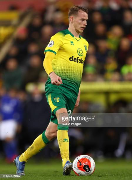 Ondrej Duda of Norwich City in action during the Premier League match between Norwich City and Leicester City at Carrow Road Final Score Norwich City...