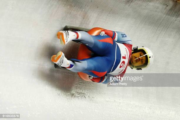 Ondrej Hyman of Czech Republic slides during the Men's Singles Luge on day one of the PyeongChang 2018 Winter Olympic Games at Olympic Sliding Centre...