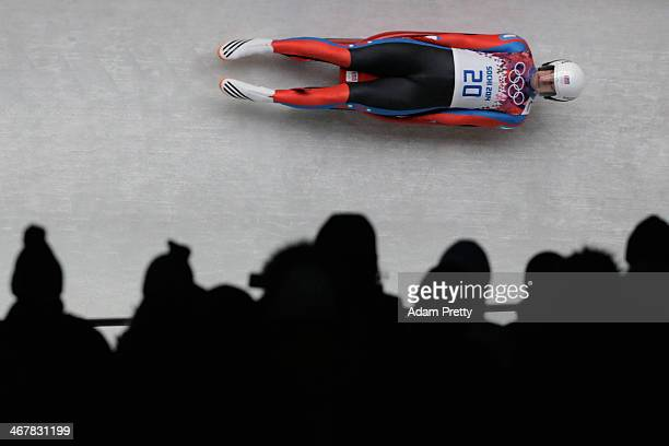 Ondrej Hyman of the Czech Republic makes a run during the Luge Men's Singles on Day 1 of the Sochi 2014 Winter Olympics at the Sliding Center Sanki...