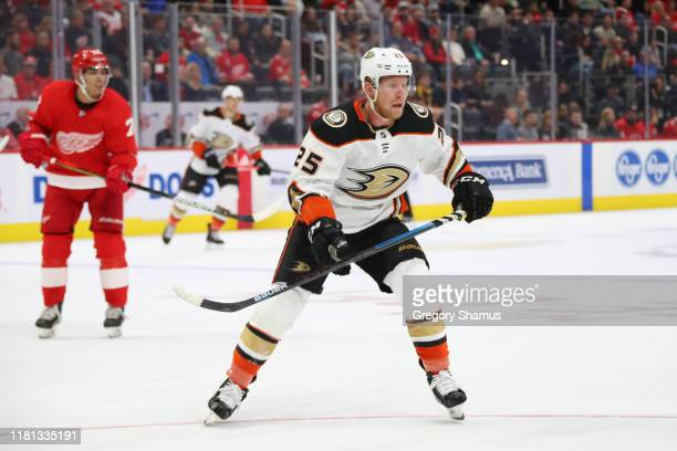 Ondrej Kase of the Anaheim Ducks skates against the Detroit Red Wings at Little Caesars Arena on October 08 2019 in Detroit Michigan