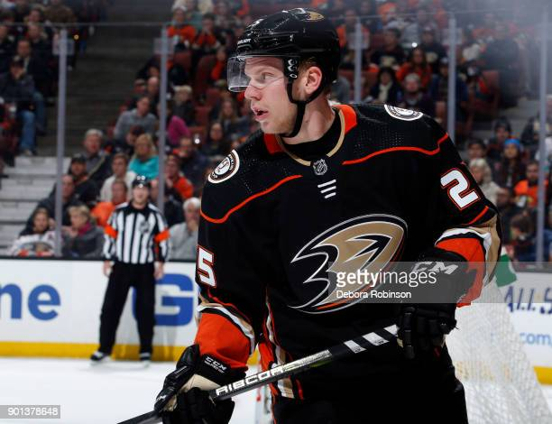 Ondrej Kase of the Anaheim Ducks skates against the Vegas Golden Knights on December 27 2017 at Honda Center in Anaheim California