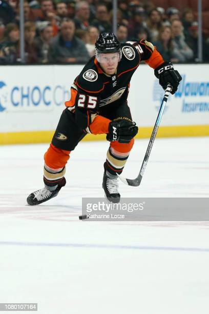 Ondrej Kase of the Anaheim Ducks skates down the ice against the New Jersey Devils at Honda Center on December 09 2018 in Anaheim California