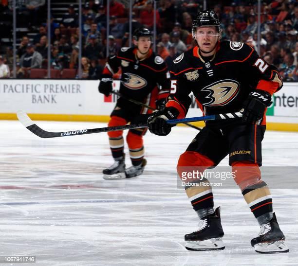 Ondrej Kase of the Anaheim Ducks skates during the game against the Nashville Predators on November 12 2018 at Honda Center in Anaheim California