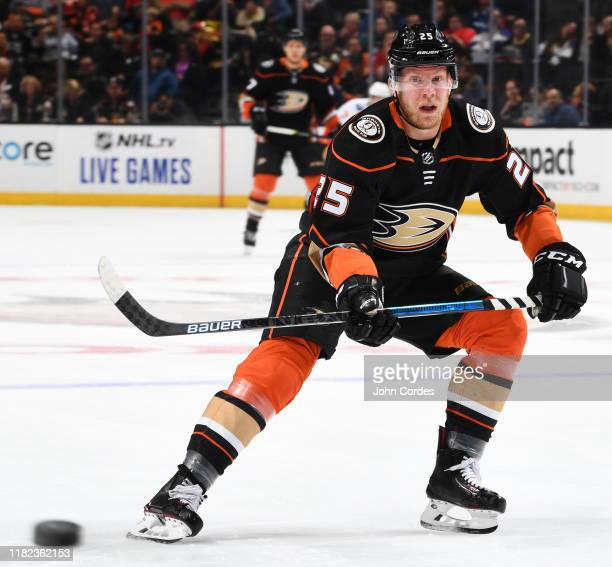 Ondrej Kase of the Anaheim Ducks skates during the game against the Calgary Flames at Honda Center on October 20 2019 in Anaheim California