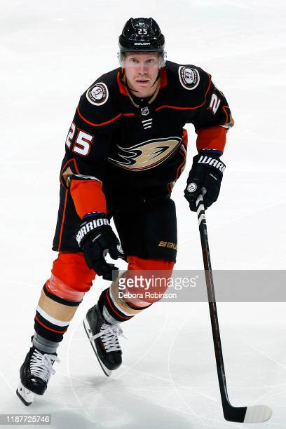 Ondrej Kase of the Anaheim Ducks skates during the game against the Detroit Red Wings at Honda Center on November 12 2019 in Anaheim California