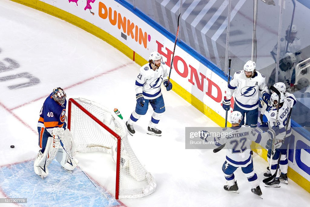 Tampa Bay Lightning v New York Islanders - Game Four : Foto di attualità
