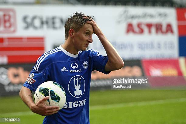 Ondrej Sukup of SK Sigma Olomouc in action during the Czech First League match between FK Jablonec and SK Sigma Olomouc held on May 26, 2013 at the...