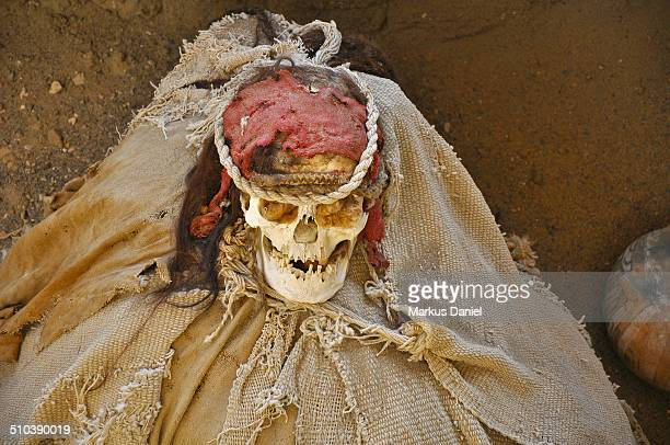 One ancient mummy at Chauchilla Cemetery
